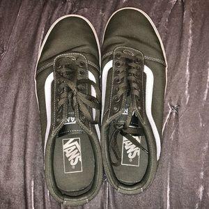 army green vans old skool sneakers